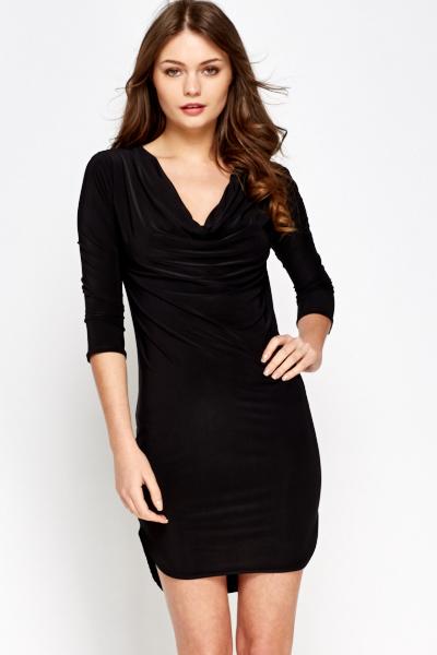Black Cowl Dress