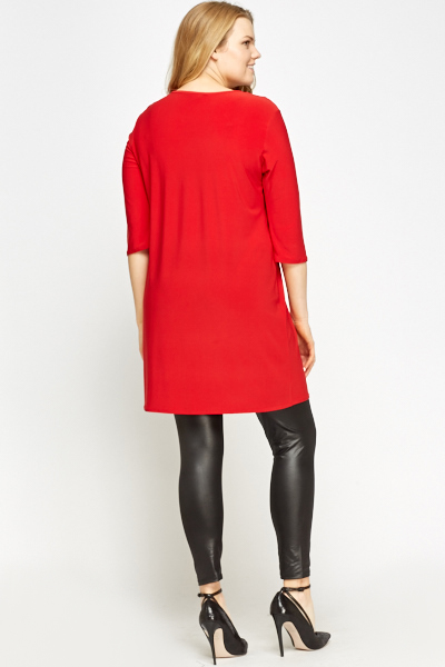 Keyhole Neck Red Tunic