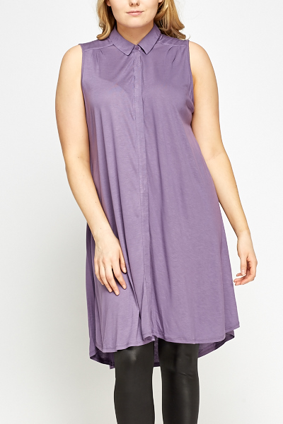 Longline Sleeveless Shirt