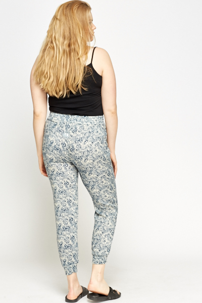 Paisley Elasticated Trousers