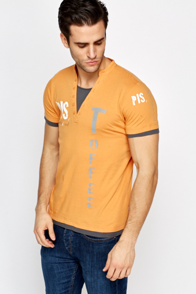 Two Tone Printed T-Shirt