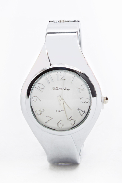 Basic Metal Dial Bangel Watch