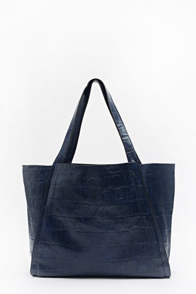 Mock Crock Winged Shopper Bag