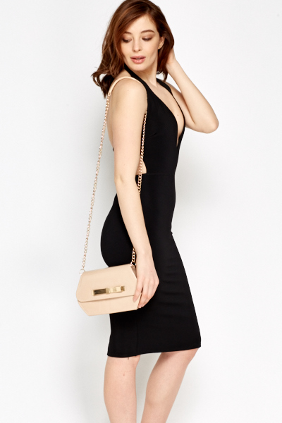 Open Back Halter Neck Dress