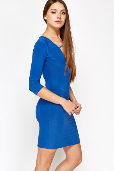 Royal Blue Cut Out Front Dress