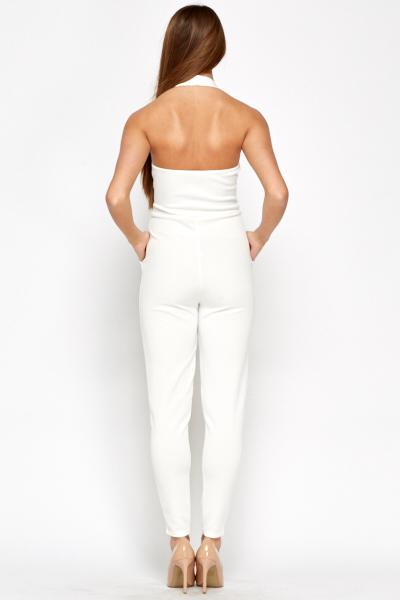 f518bf0c2884 White Plunge Scuba Jumpsuit - Just £5