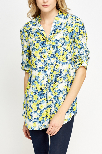 Yellow Multi Floral Blouse