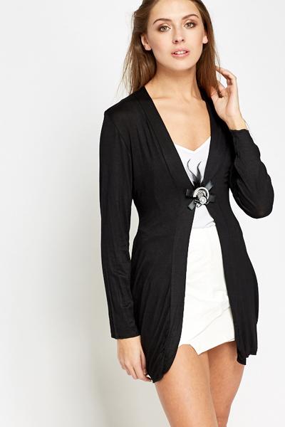 Brooch Detail Black Cardigan - Just £5 7681d80d0