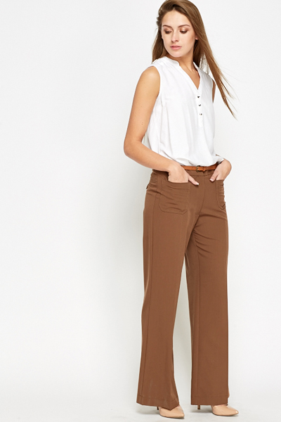 0db5423656 Brown Wide Leg Trousers - Just £5