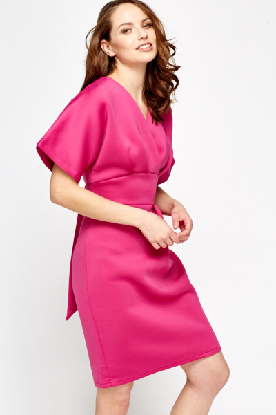 Fuchsia High Waist Dress
