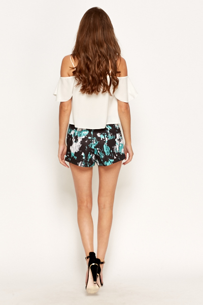 Paint Patch Printed Skort