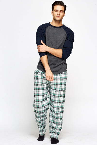 Check Grid Night Lounge Trousers
