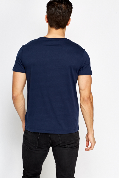Dark blue printed t shirt just 5 for T shirt dark blue