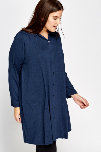 Middle Blue Shirt Dress