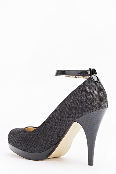 Ankle Strap Mid Heels - Just $6