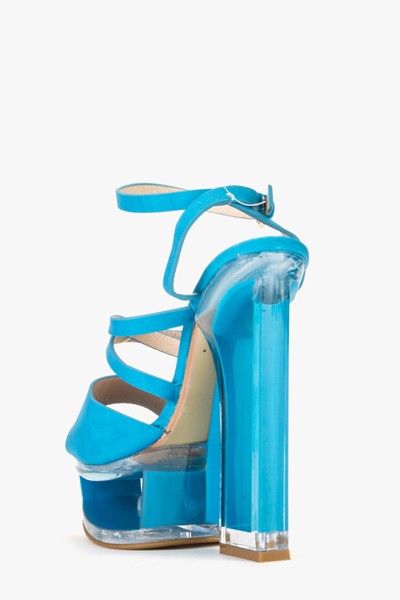 Perspex Strappy Heels