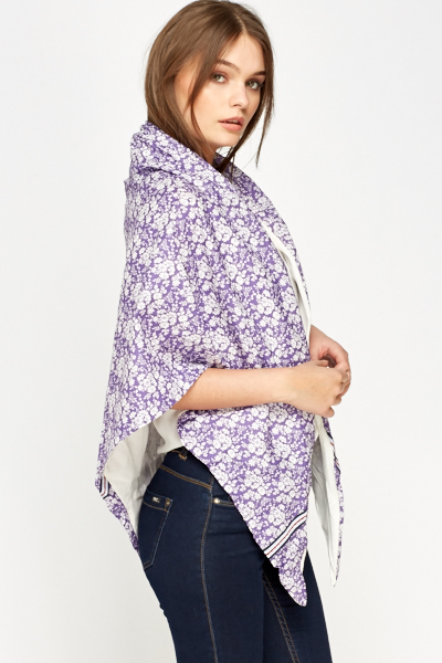 Floral Poncho Scarf