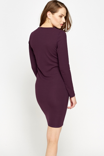 Plum Long Sleeve Dress