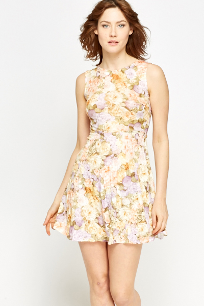 653832ff5a3 Floral Yellow Summer Dress - Just £5