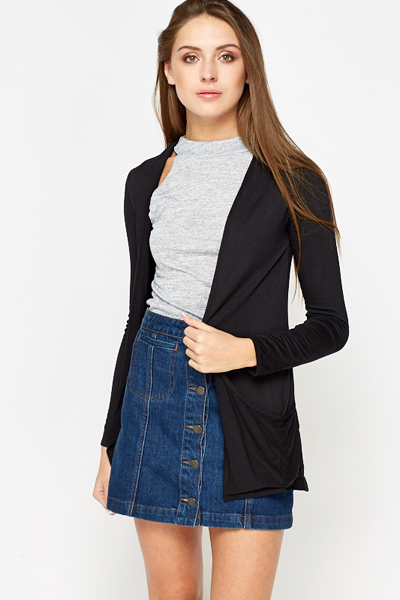 Light Weight Black Cardigan