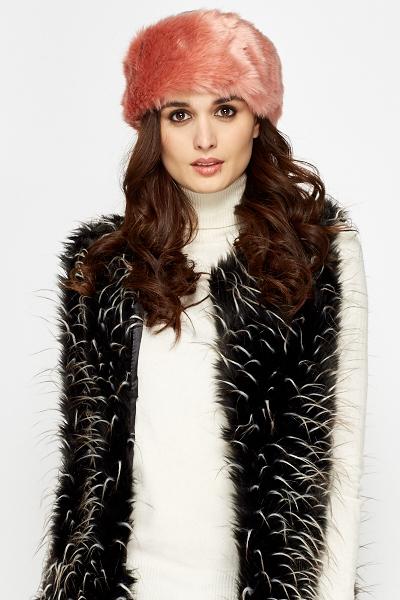Pink Faux Fur Headband