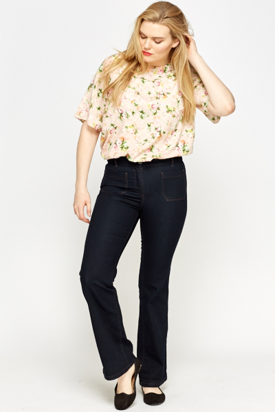 Flared Button Up Jeans
