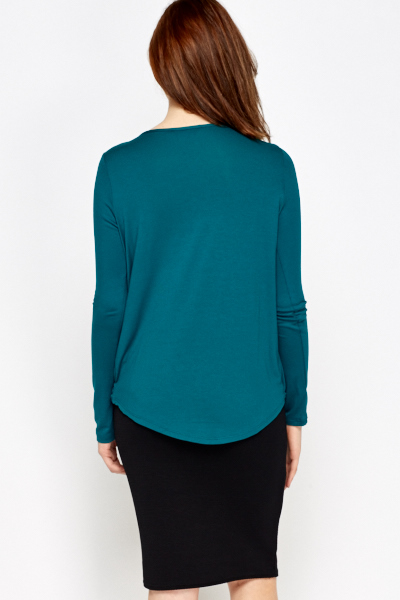 Low Plunge Wrap Top