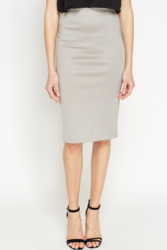 Grey Pencil Skirt