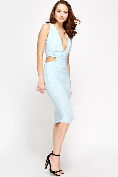 bb988b3194a8 Light Blue Plunge Dress - Just £5