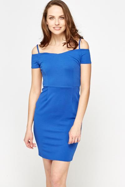 Royal Blue Cold Shoulder Dress Just 163 5