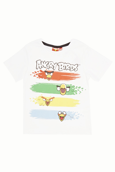 White Angry Birds T-Shirt