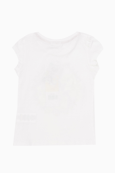 White Princess Front Print T-Shirt