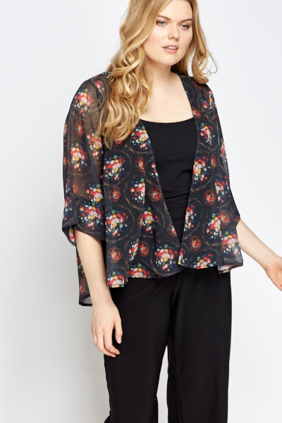 09d1691227 Floral Sheer Cover Up - Just £5