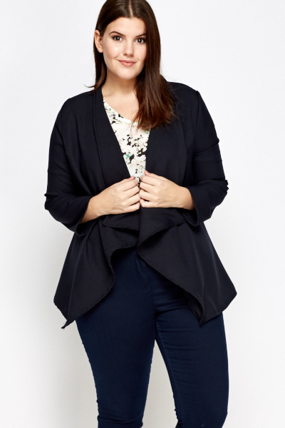 Navy Waterfall Blazer