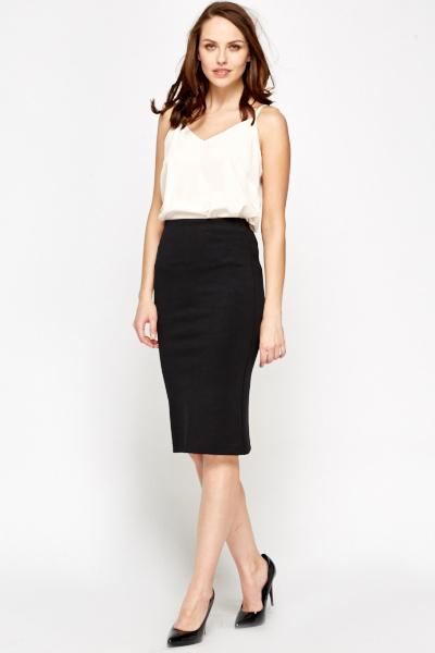 Black Midi Skirt - Just £5