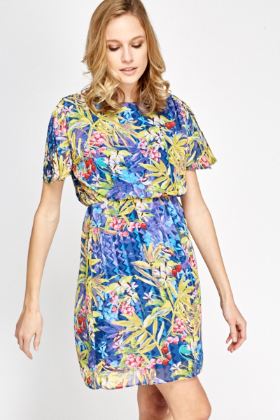 bae24f82bb3 Pleated Floral Summer Shift Dress - Just £5
