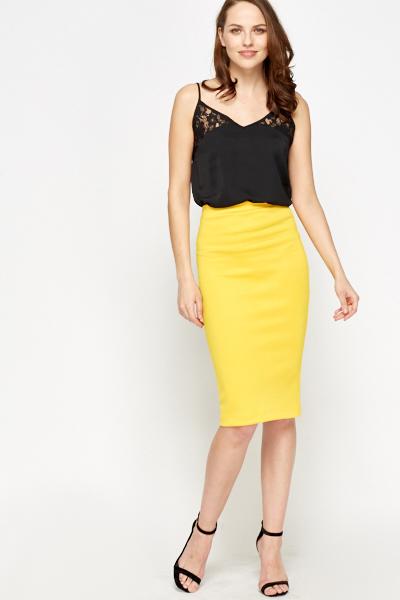 ac9a707d9e Yellow Pencil Skirt - Just £5