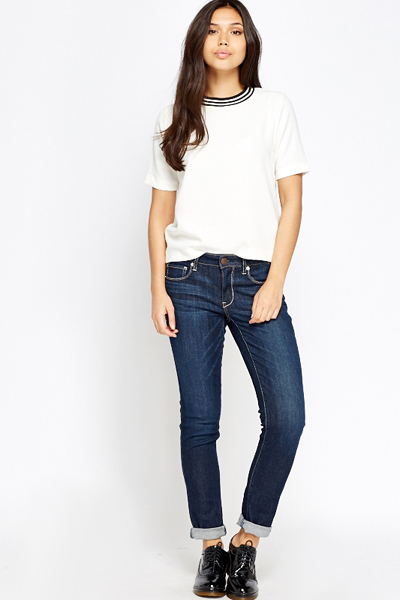 Dark Blue Casual Jeans