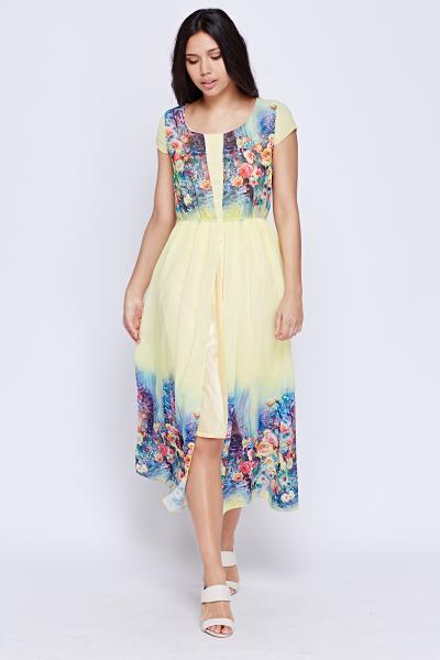 48d2dd3cb88 Floral printed Summer Maxi Dress - Just £5