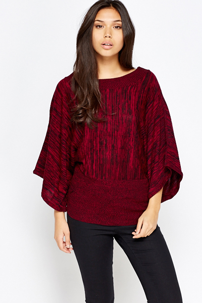 Batwing Sleeve Knit Top