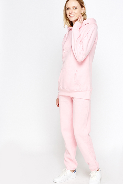 Fleece Light Pink Tracksuit