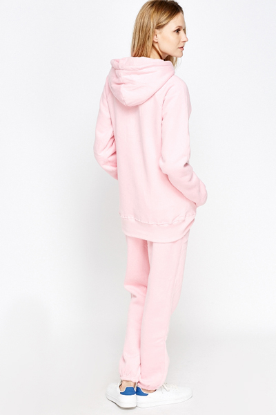 light pink tracksuit