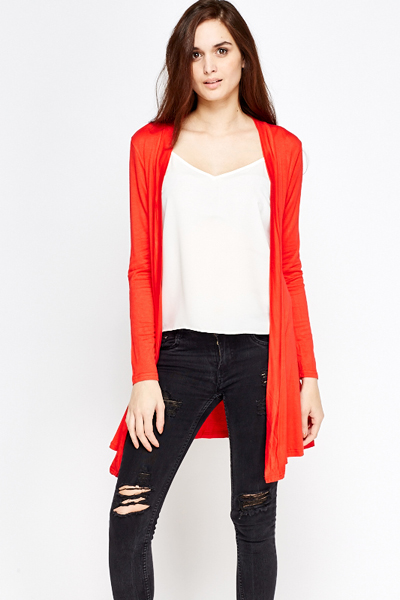 Cotton Light Weight Asymmetric Cardigan
