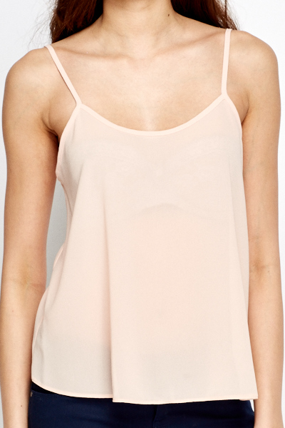 Peach Cami Basic Top