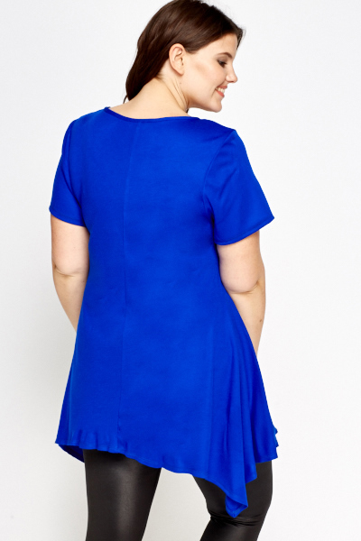 Asymmetric Royal Blue Tunic