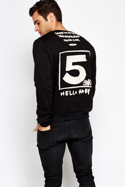 Contrast Text Print Jumper