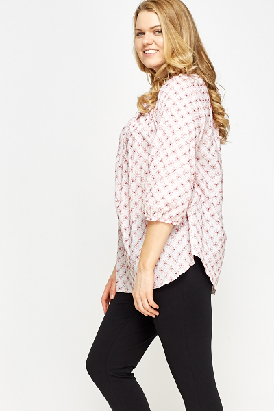Embroidered Floral Blouse