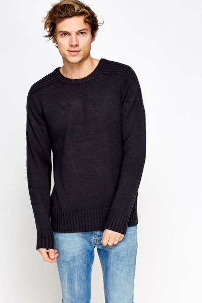 Ribbed Casual Jumper
