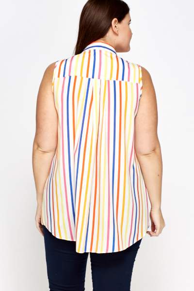 Striped A-Line Top