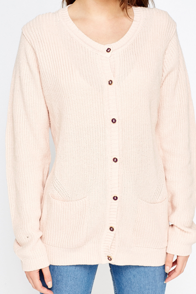 Knitted Button Up Cardigan